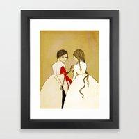 Doppleganger Framed Art Print