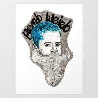 Beardo Wierdo Art Print