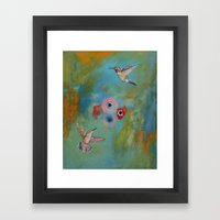 Hummingbirds Framed Art Print