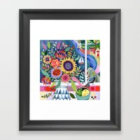Bouquet by the Bay Framed Art Print