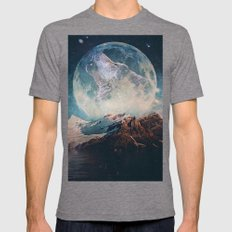 Lake Moon Mens Fitted Tee Tri-Grey SMALL