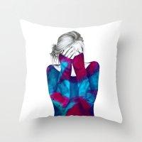 Cosmic Girl 2 Throw Pillow