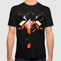 Abstrakt. Mens Fitted Tee Tri-Black SMALL