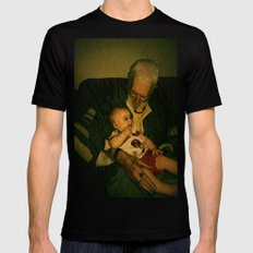 4 generations  SMALL Black Mens Fitted Tee
