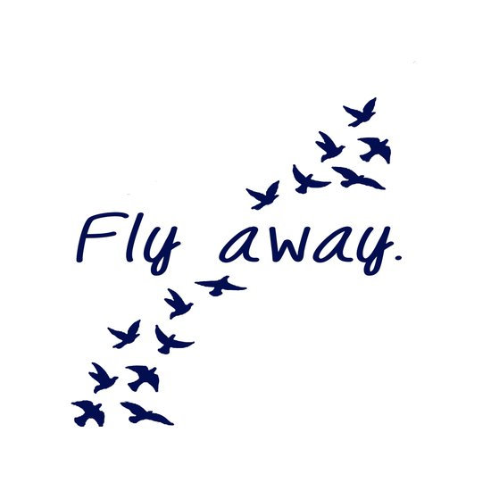 Fly Away. Art Print