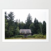 Woodland Cottage Art Print