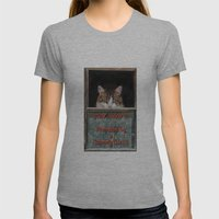 Scaredy Cat Womens Fitted Tee Athletic Grey SMALL
