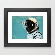 Framed Art Print featuring The Escape by Seamless