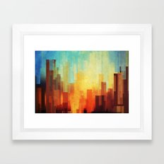 Urban Sunset Framed Art Print