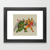 Teenage Mutant Gamera Ni… Framed Art Print