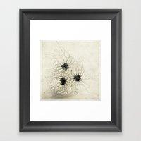 Three Weeds Framed Art Print