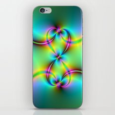 Neon Love Knots iPhone & iPod Skin