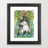In the Midnight Garden Framed Art Print