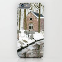 Children Building A Snowman iPhone 6 Slim Case