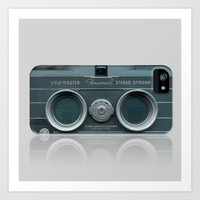 Art Print featuring Camera Vintage Stereo  by Bright Enough💡