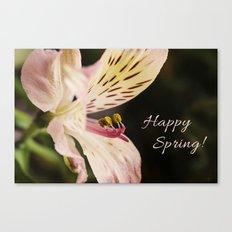 Happy Spring! 2 Canvas Print