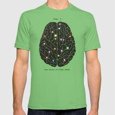 Your Brain On Video Games Mens Fitted Tee Grass SMALL