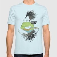 Thinking Music Mens Fitted Tee Light Blue SMALL