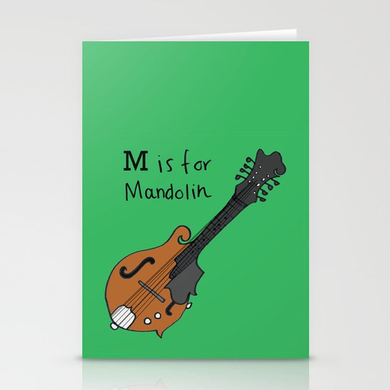 M is for Mandolin Stationery Card