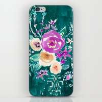 LAVISH FLORAL - EMERALD iPhone & iPod Skin