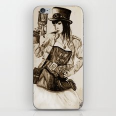 Steampunk Girl iPhone & iPod Skin