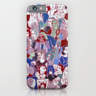 iPhone & iPod Case featuring The Crowd by Clara López