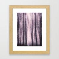 Woods Red Framed Art Print