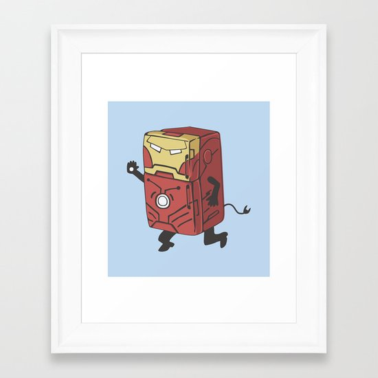 Refrig'r-Iron-Man Framed Art Print