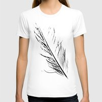 T-shirt featuring Peacock Feather 4 by Tosha Lobsinger is my Photographer
