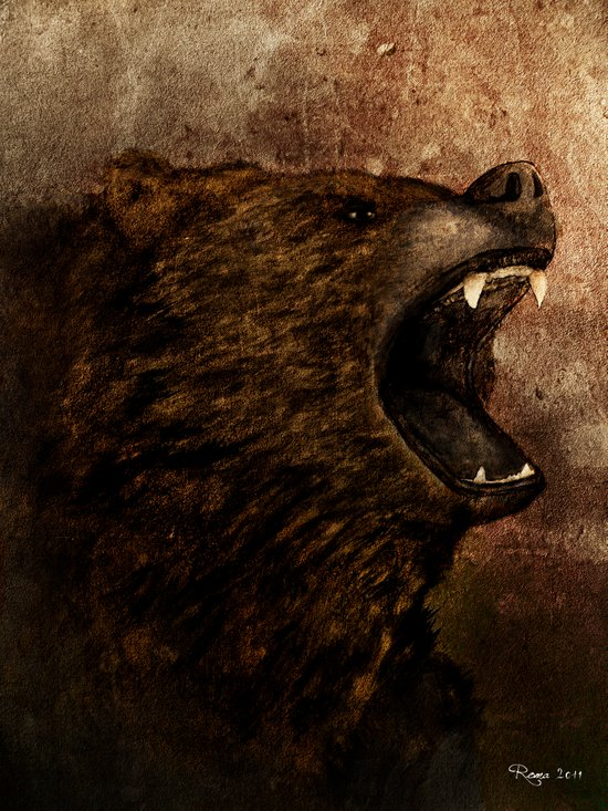 The Grizzly Canvas Print