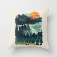 Wilderness Camp Throw Pillow
