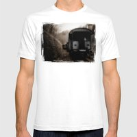 The Ghost Train II Mens Fitted Tee White SMALL
