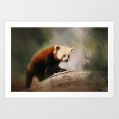 The Panda Red Art Print