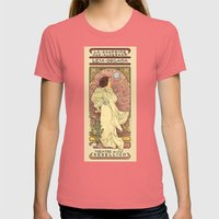 La Dauphine Aux Alderaan Womens Fitted Tee Pomegranate SMALL