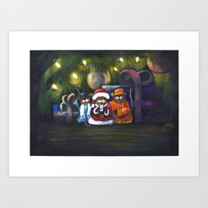 Merry Christmas World Art Print