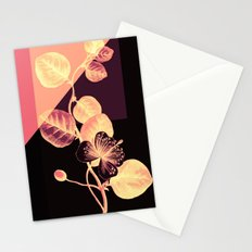 flower on pink,purple and black Stationery Cards