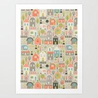 Houses Art Print