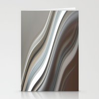 Abstract Wave  Stationery Cards