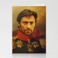 Stationery Cards featuring Hugh Jackman - Replacefa… by Replaceface