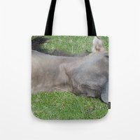 Grinning Horse Tote Bag