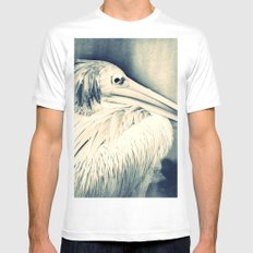 PELICAN - CROSS/PROCESS White Mens Fitted Tee SMALL