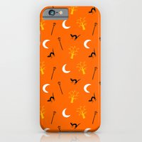 iPhone & iPod Case featuring Halloween Night-Orange by ts55