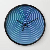 SoundWaves Teal/Indigo Wall Clock