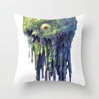 Slime Ball Throw Pillow