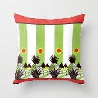 Pineapple Fields Forever Throw Pillow