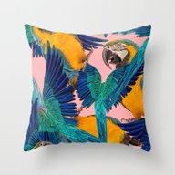 Ara Parrot Throw Pillow