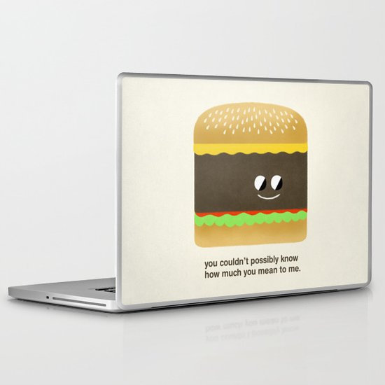 Cheesy Burger Laptop & iPad Skin