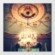Canvas Print featuring Chandelier by Elle Moss