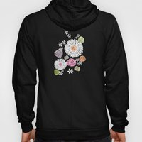 Pastel color freehand sunflowers and roses Hoody