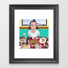 Power Breakfast Framed Art Print